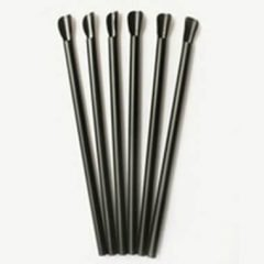 Cannucce Cucchiaio Nere 20 cm (6 mm) x 100